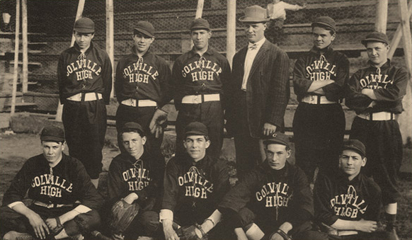 Colville High School Baseball Team ca 1910